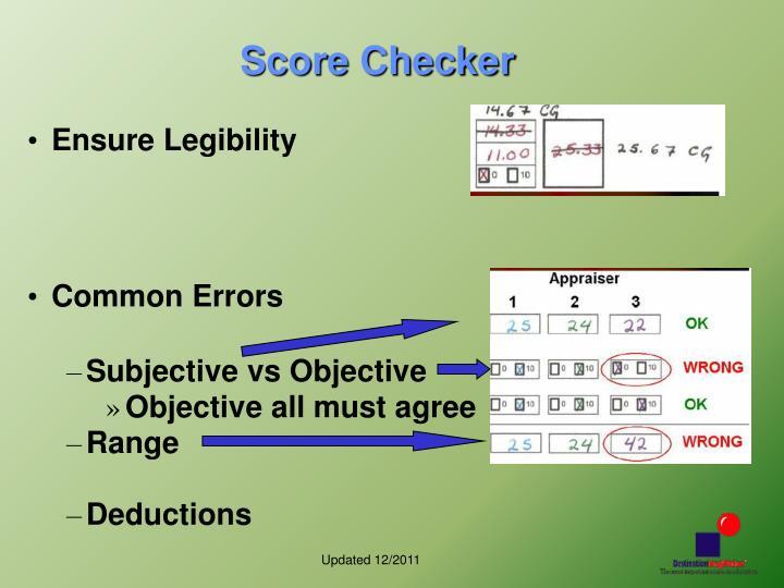 Score Checker