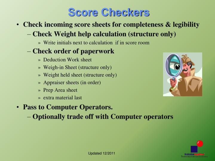 Score Checkers