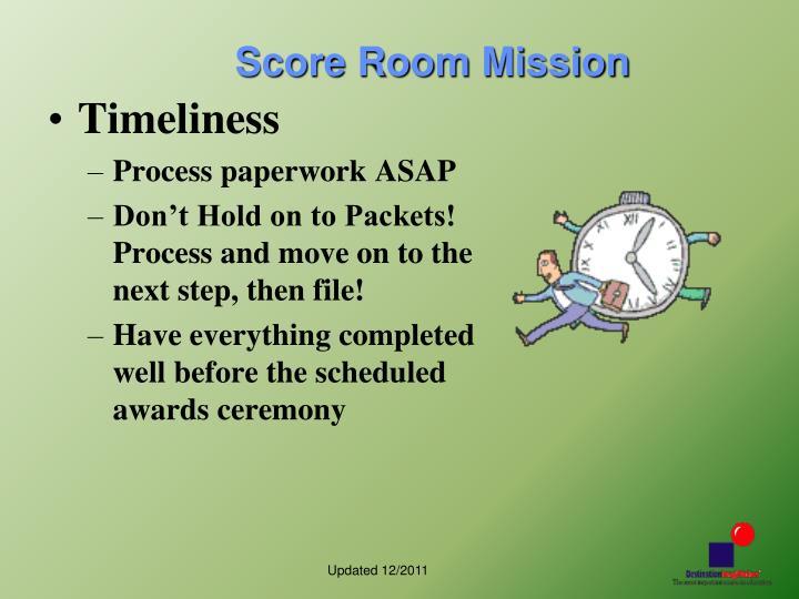 Score Room Mission