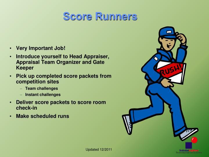 Score Runners