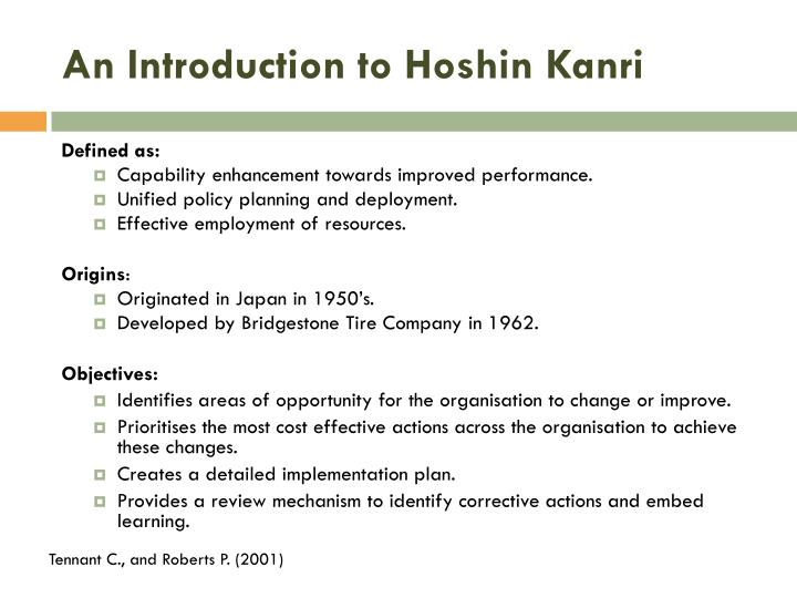 An introduction to hoshin kanri