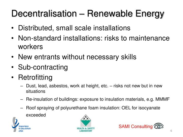 Decentralisation – Renewable Energy