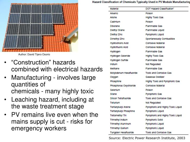 """Construction"" hazards combined with electrical hazards"