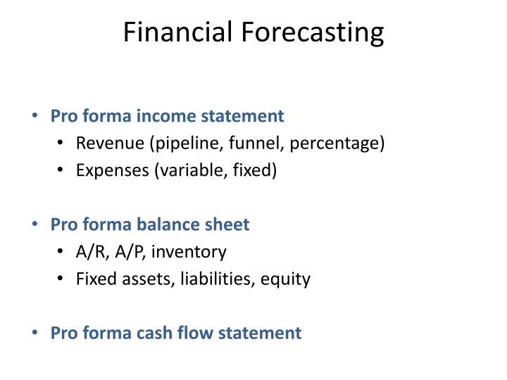 Financial Forecasting