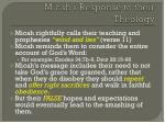 micah s response to their theology