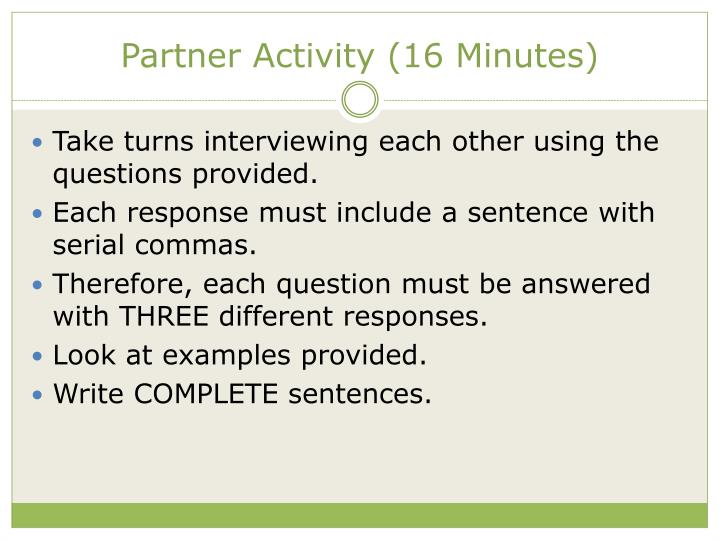 Partner Activity (16 Minutes)