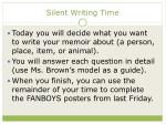 silent writing time
