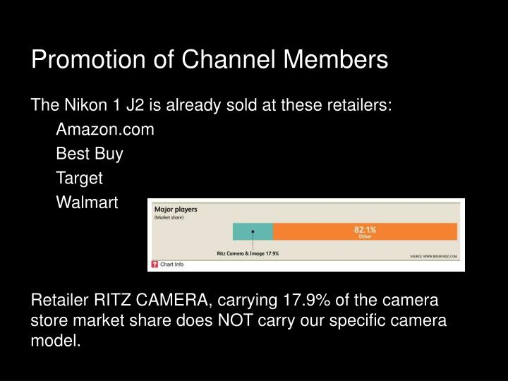 Promotion of Channel Members