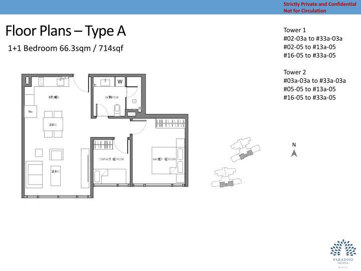 Floor Plans – Type A