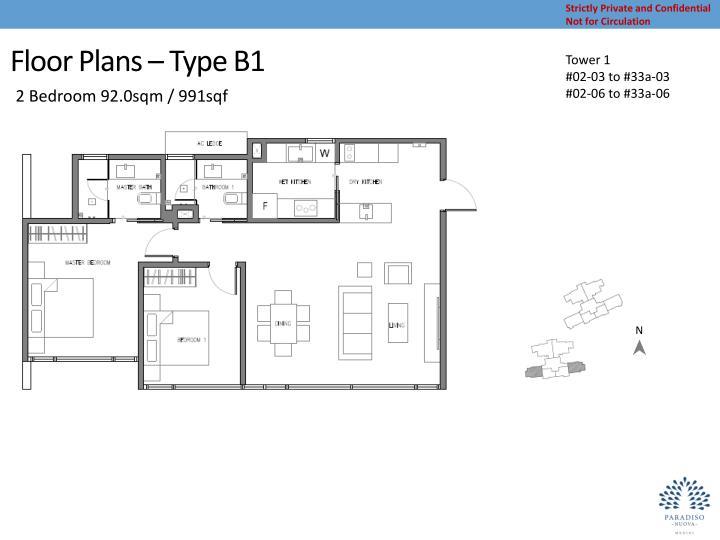 Floor Plans – Type B1