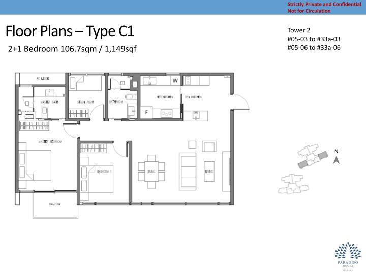 Floor Plans – Type C1