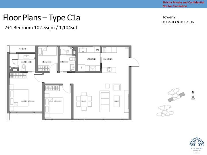 Floor Plans – Type C1a
