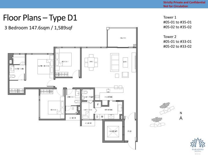 Floor Plans – Type D1