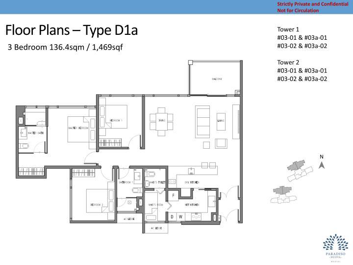 Floor Plans – Type D1a