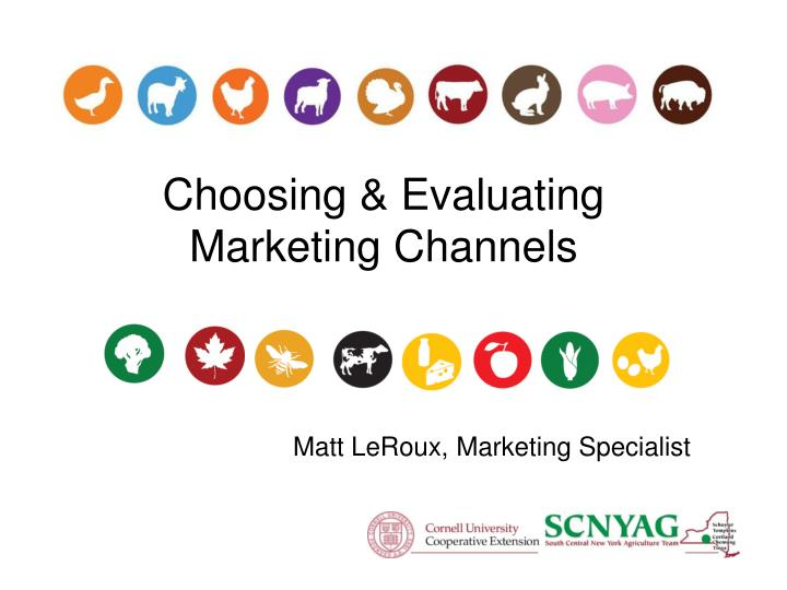 choosing evaluating marketing channels