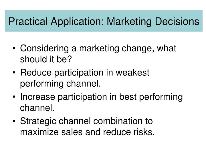 Practical Application: Marketing Decisions