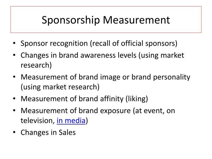 Sponsorship Measurement