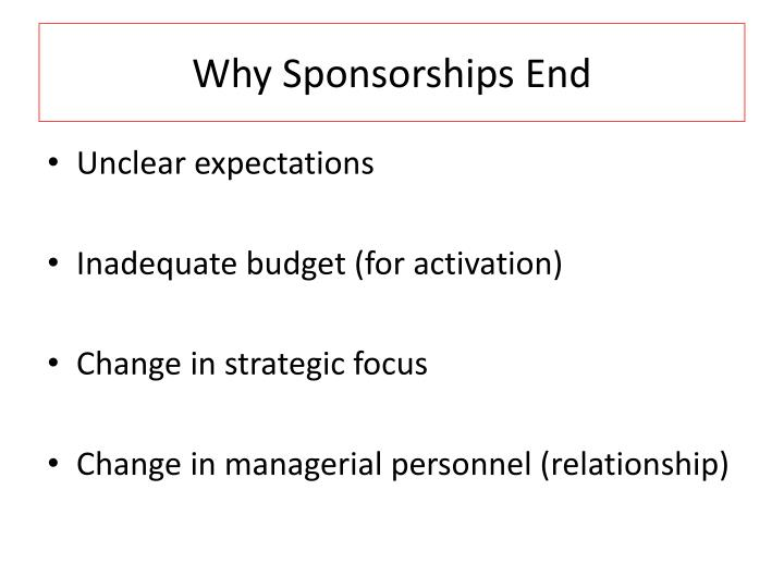 Why Sponsorships End