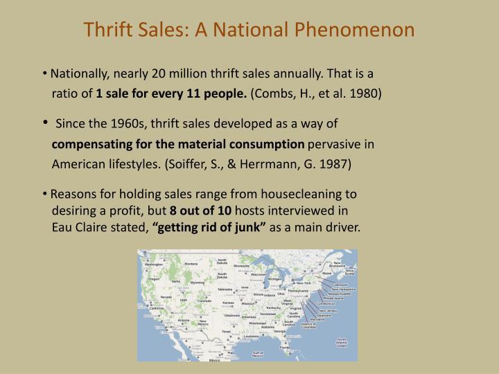 Thrift Sales: A National Phenomenon