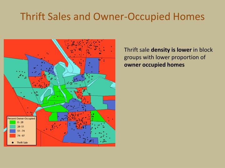 Thrift Sales and Owner-Occupied Homes