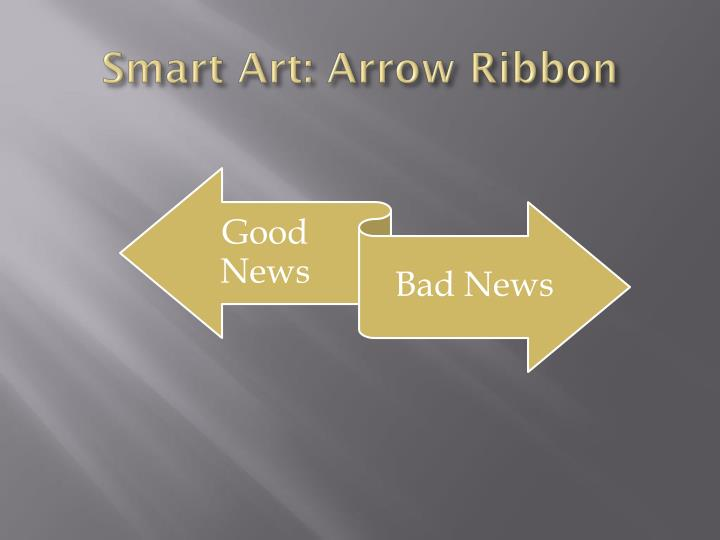 Smart Art: Arrow Ribbon