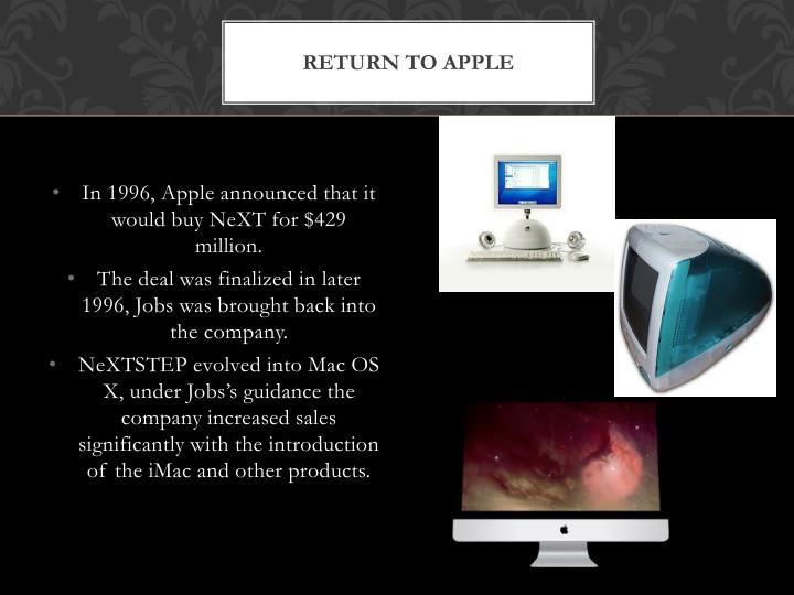 Return to apple