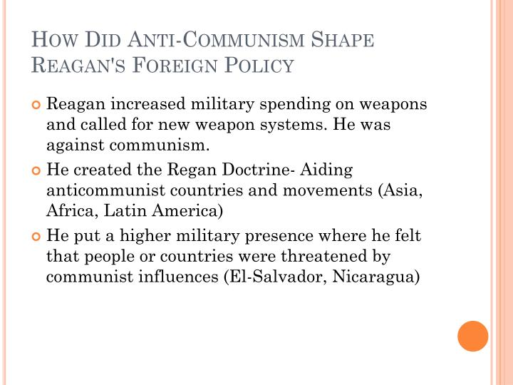 How Did Anti-Communism Shape Reagan's Foreign Policy