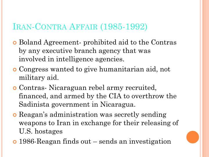 Iran-Contra Affair (1985-1992)