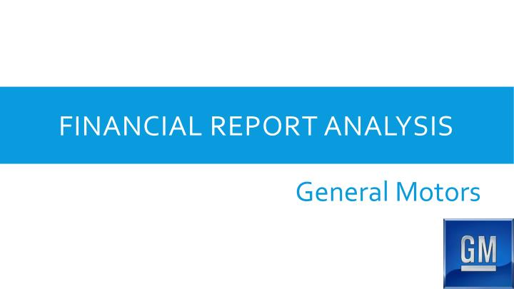 Financial Report Analysis