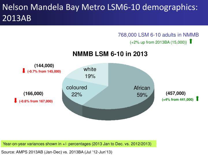 Nelson Mandela Bay Metro LSM6-10 demographics: 2013AB