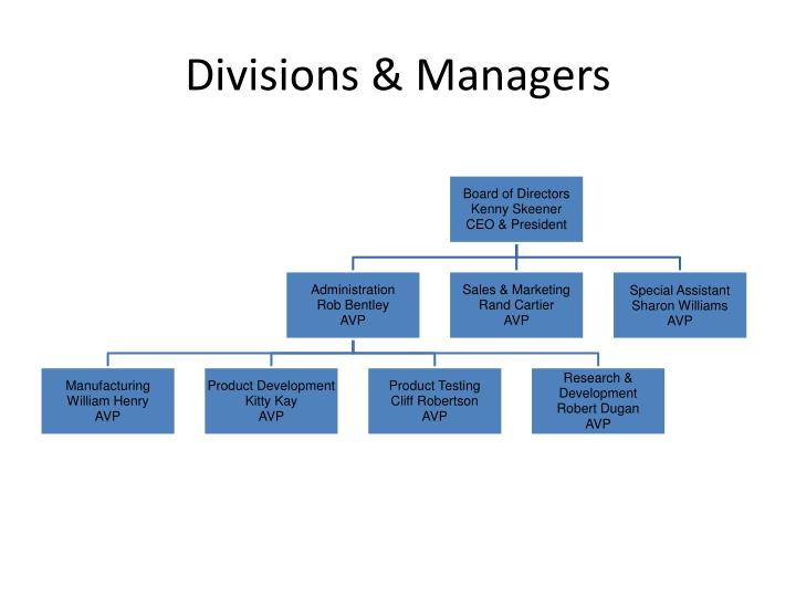 Divisions managers