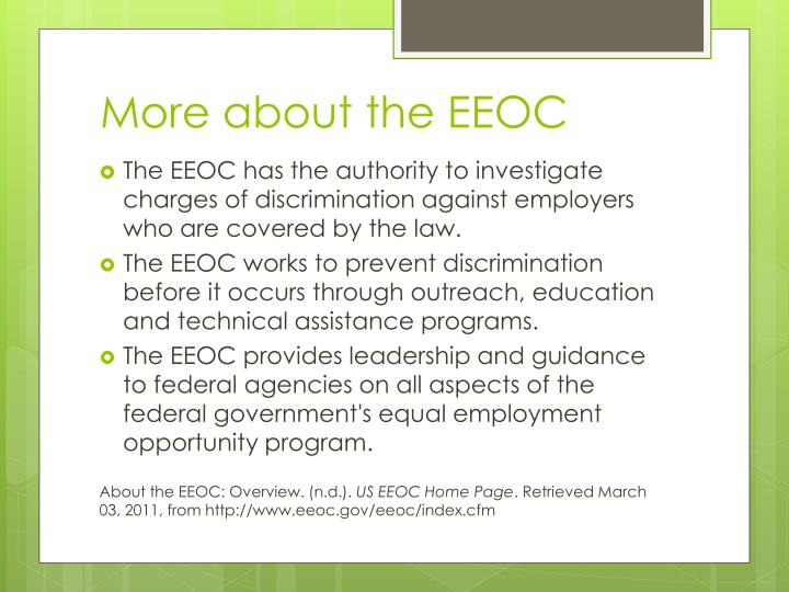 More about the EEOC