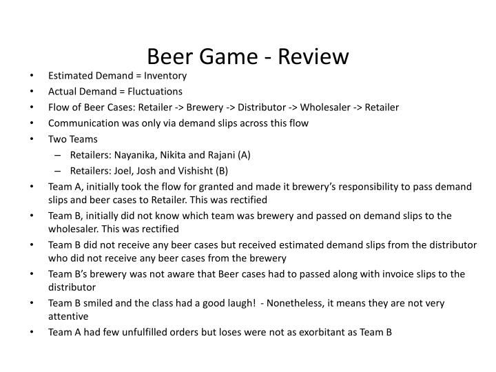 Beer Game - Review