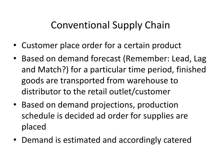 Conventional Supply Chain
