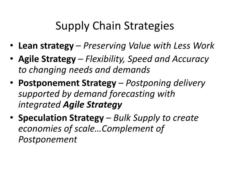 Supply Chain Strategies