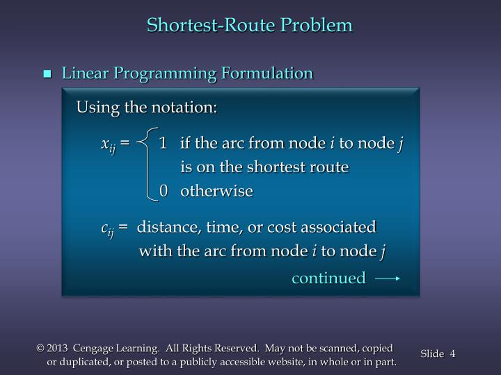 Shortest-Route Problem