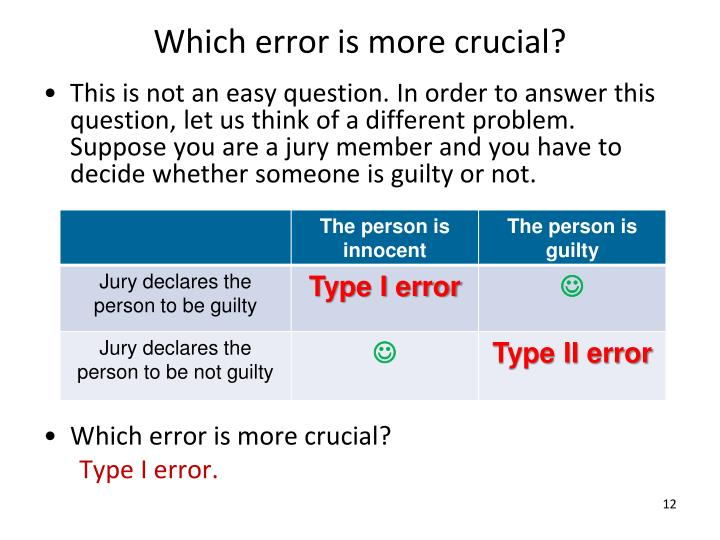 Which error is more crucial?