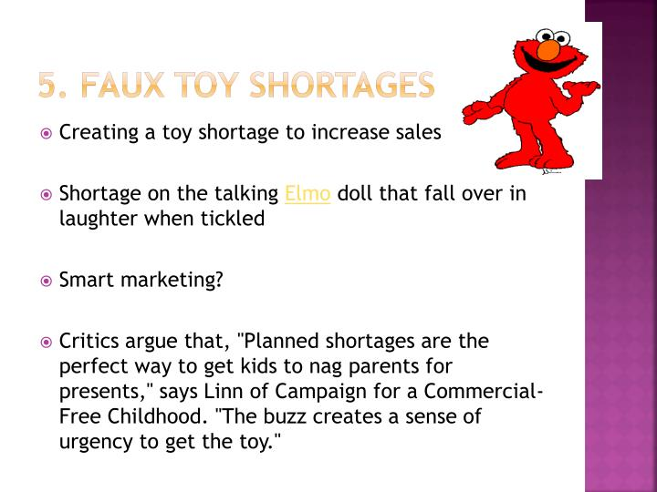 5. Faux toy shortages