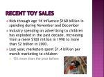 recent toy sales