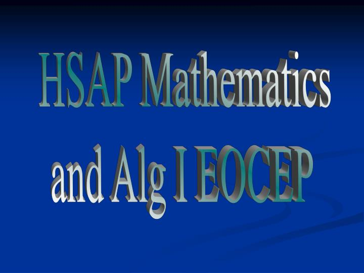 HSAP Mathematics