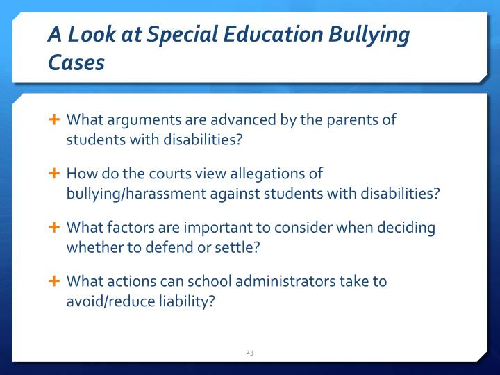A Look at Special Education Bullying Cases