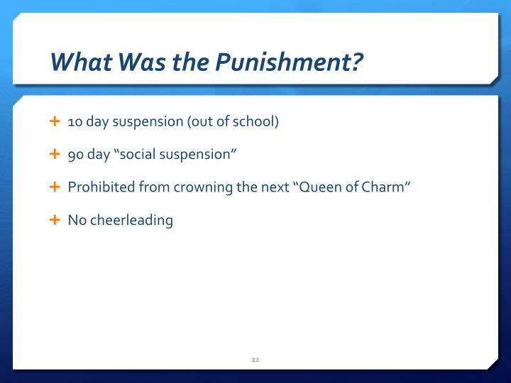 What Was the Punishment?