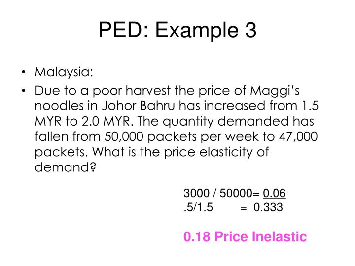 PED: Example
