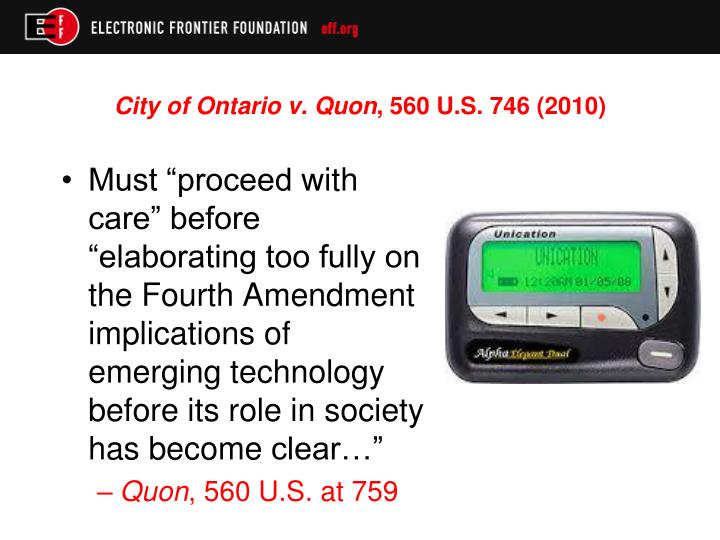 City of Ontario v. Quon