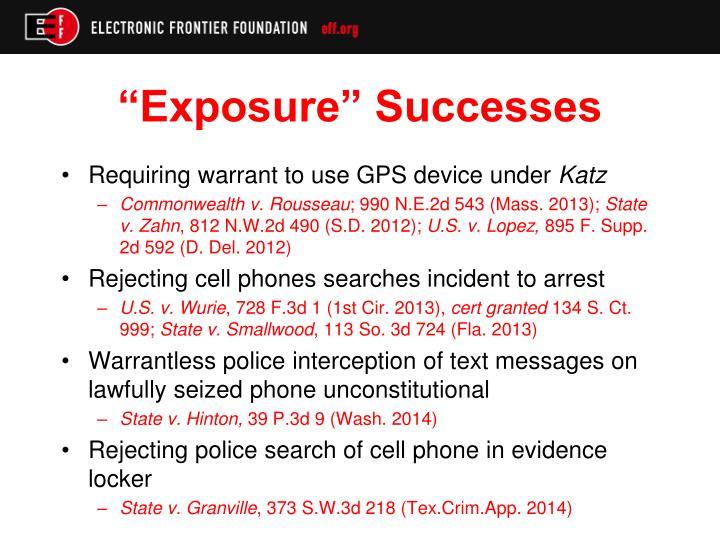 """""""Exposure"""" Successes"""