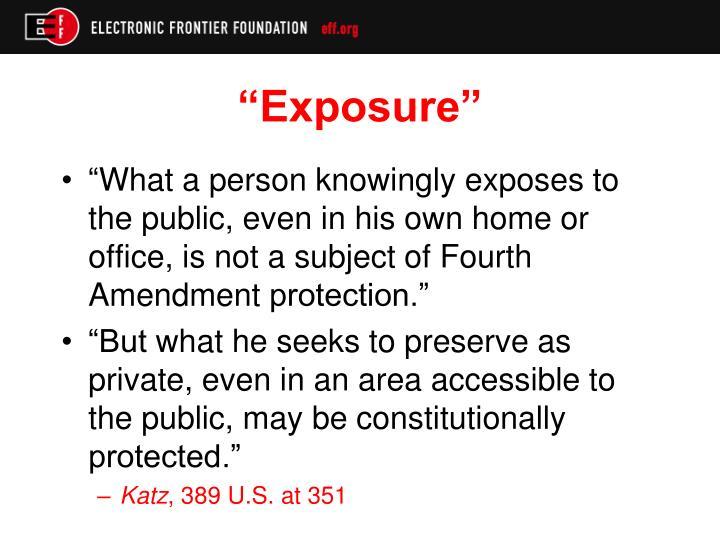 """Exposure"""