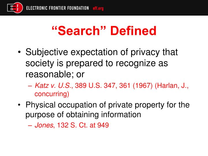 """Search"" Defined"