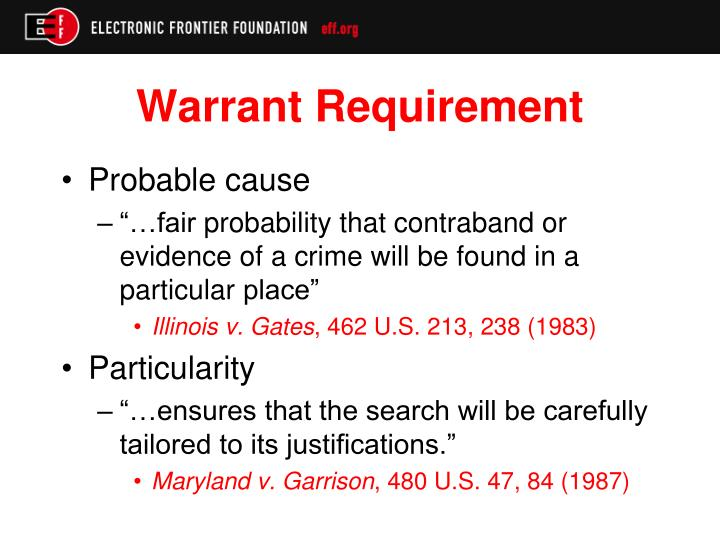 Warrant Requirement