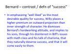bernard contrast defn of success