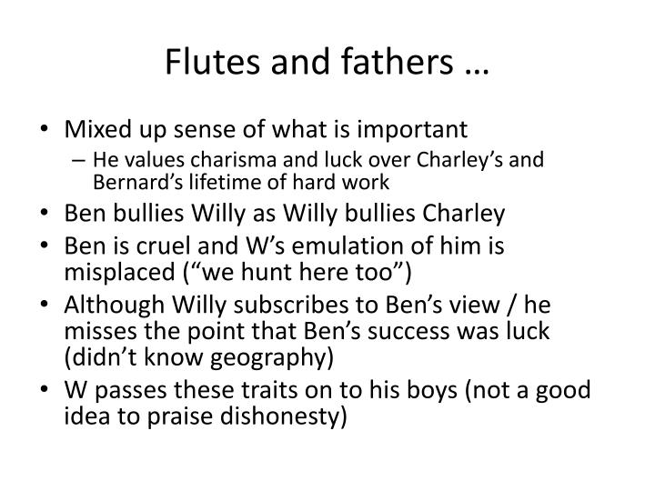 Flutes and fathers …